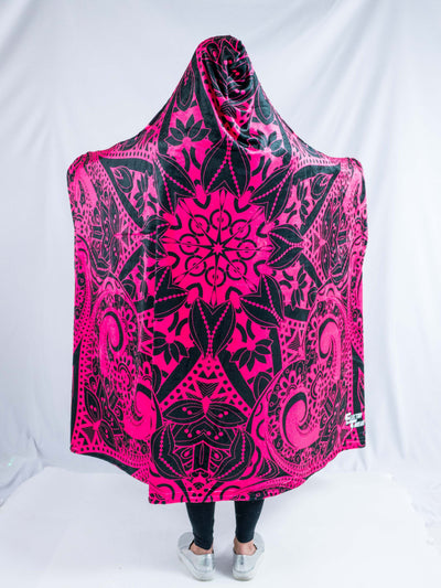 Pink Mandala Hooded Blanket Hooded Blanket Electro Threads