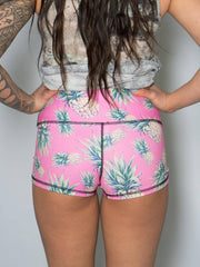 Pink Pineapples Yoga Shorts Yoga Shorts T6