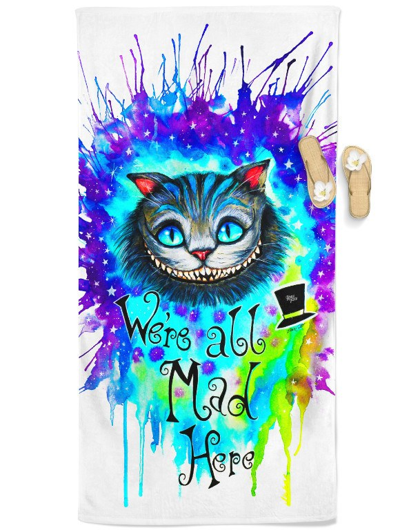 Pixie Cheshire Cat Beach Throw Towel Electro Threads