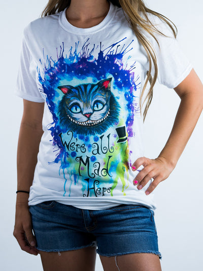 Pixie Cheshire Cat Unisex Crew T-Shirts Electro Threads X-Small