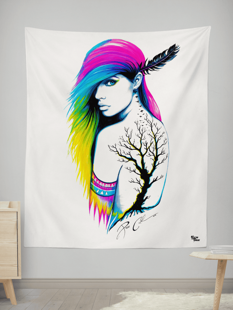 "Pixie Tapestry Tapestry Electro Threads SMALL: 32"" x 42"""