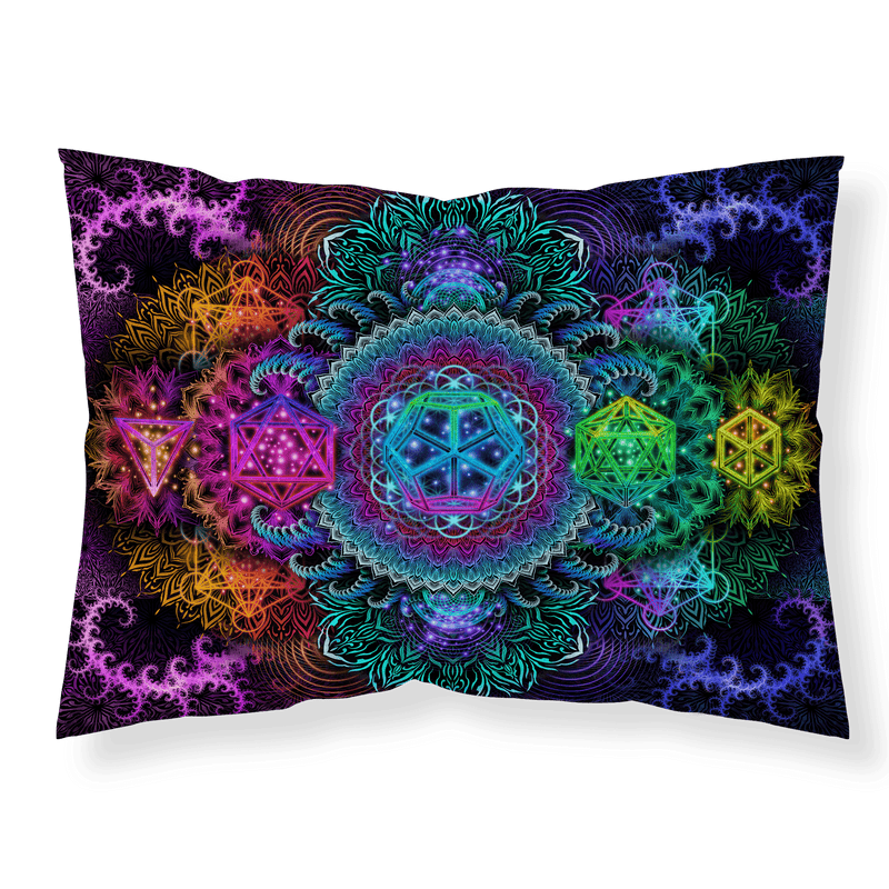 Plantonic Mandala V2 Pillowcase Pillowcase Electro Threads