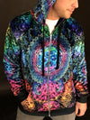 Platonic Mandala V2 Zip Hoodie Zip-Up Hoodies Electro Threads