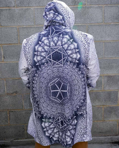 Platonic Mandala White Dream Cloak Dream Cloak Electro Threads