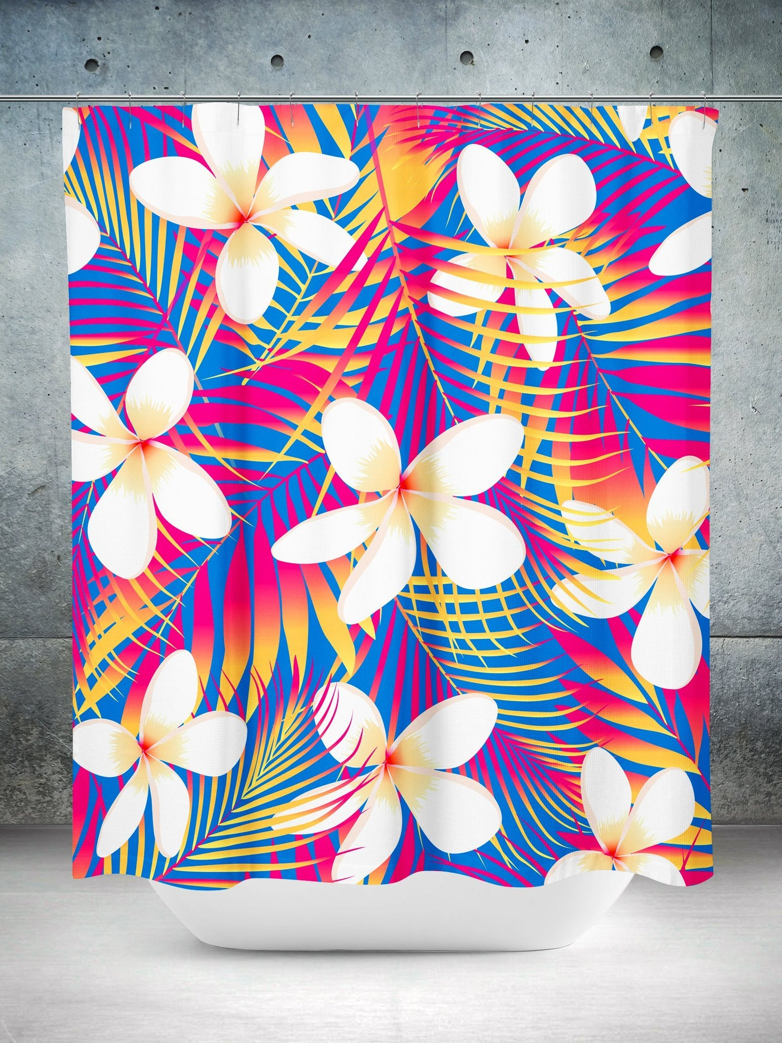 Plumeria Flowers Shower Curtain Shower Curtains Electro Threads