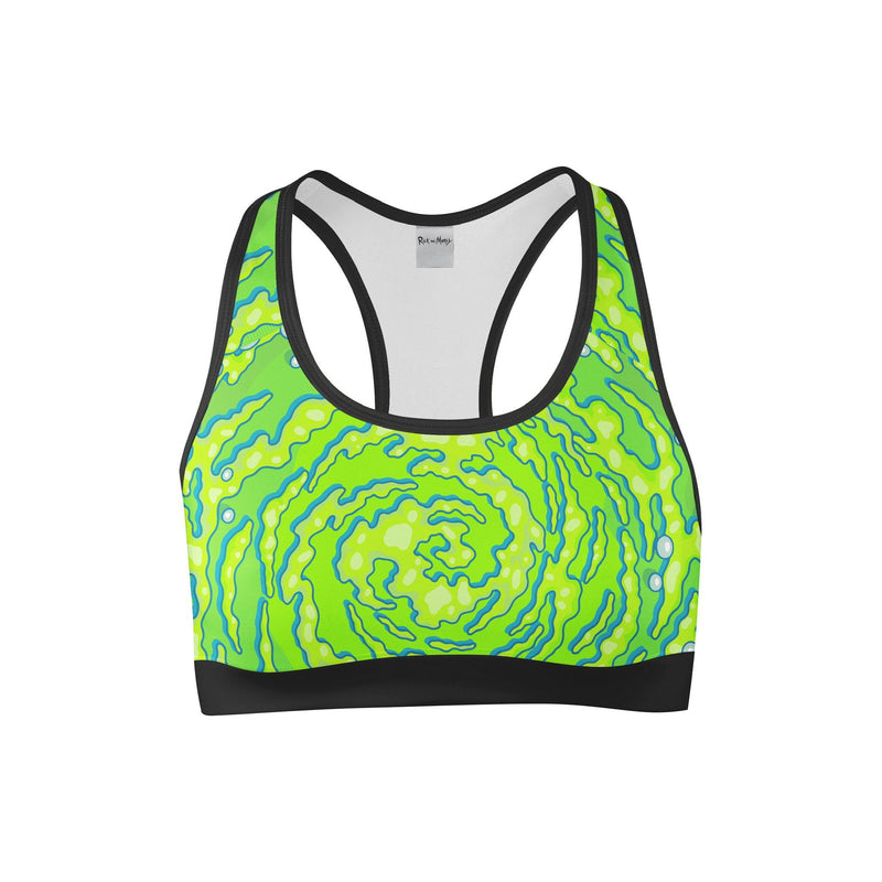 Portal Sports Bra | Rick and Morty Electro Threads