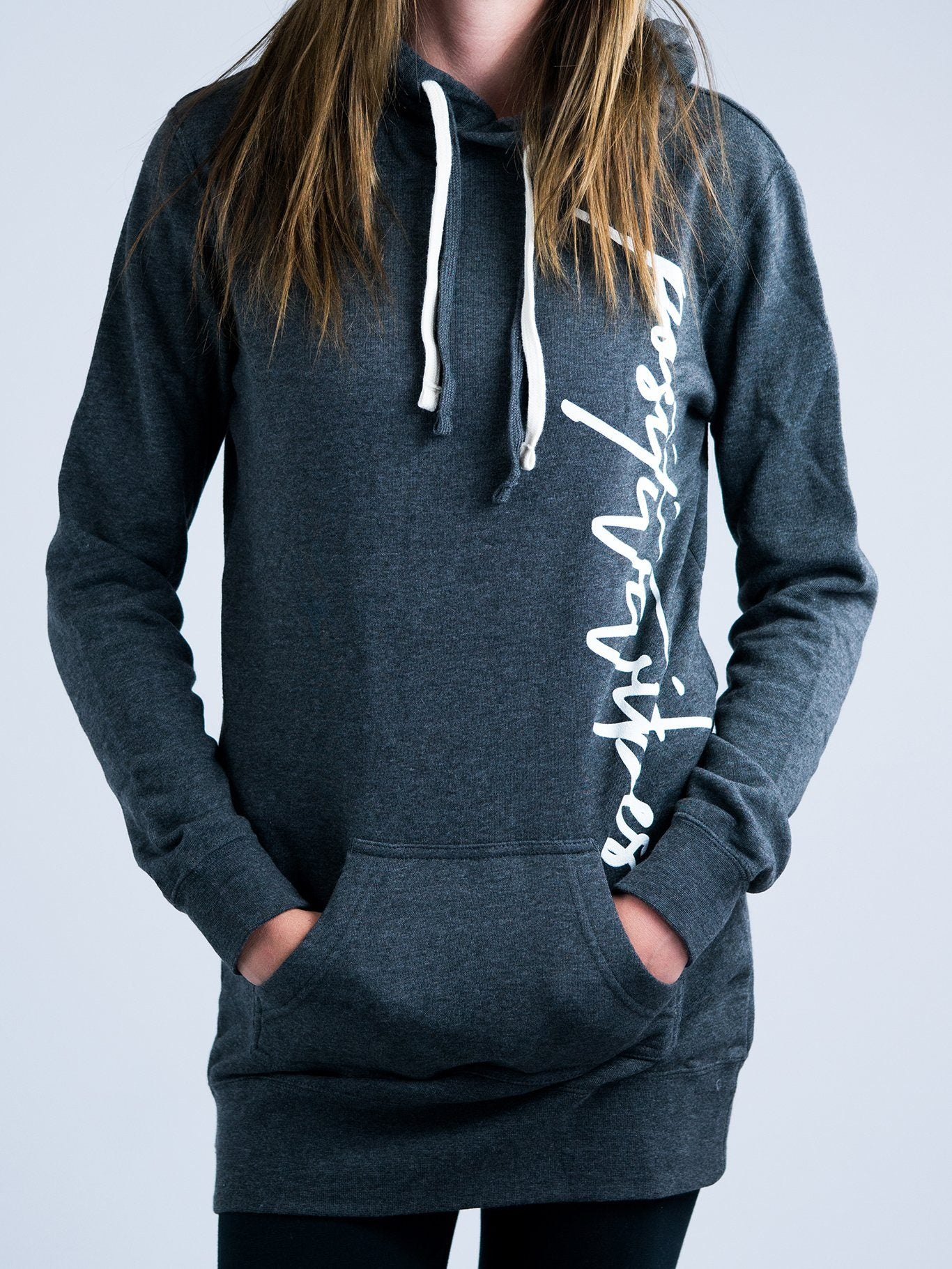 Positive Vibes Hoodie Dress Hoodie Dress Electro Threads