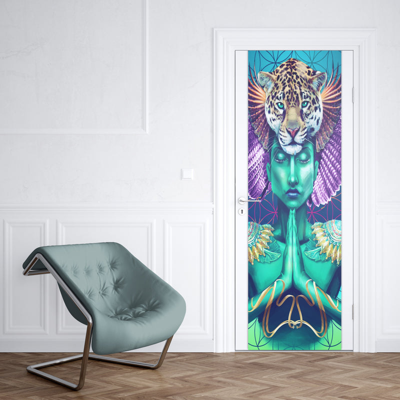 "Power and Peace Door Wrap Door Cover Electro Threads Standard: 30""x80"""