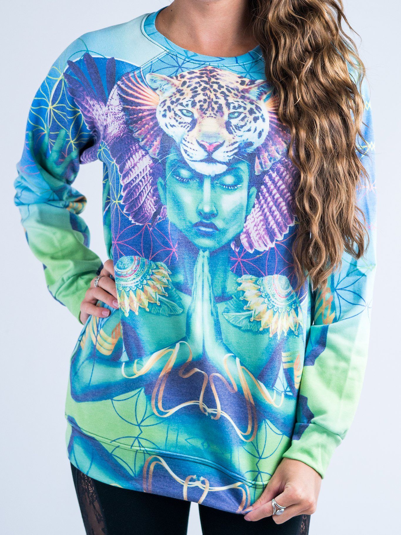 Power and Peace Vintage Sweatshirt Sweatshirt T6 XS Blue