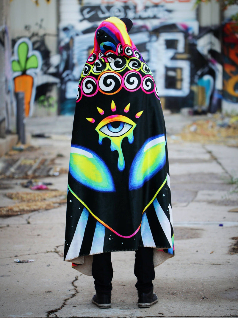 Psy Vibez Hooded Blanket Hooded Blanket Electro Threads