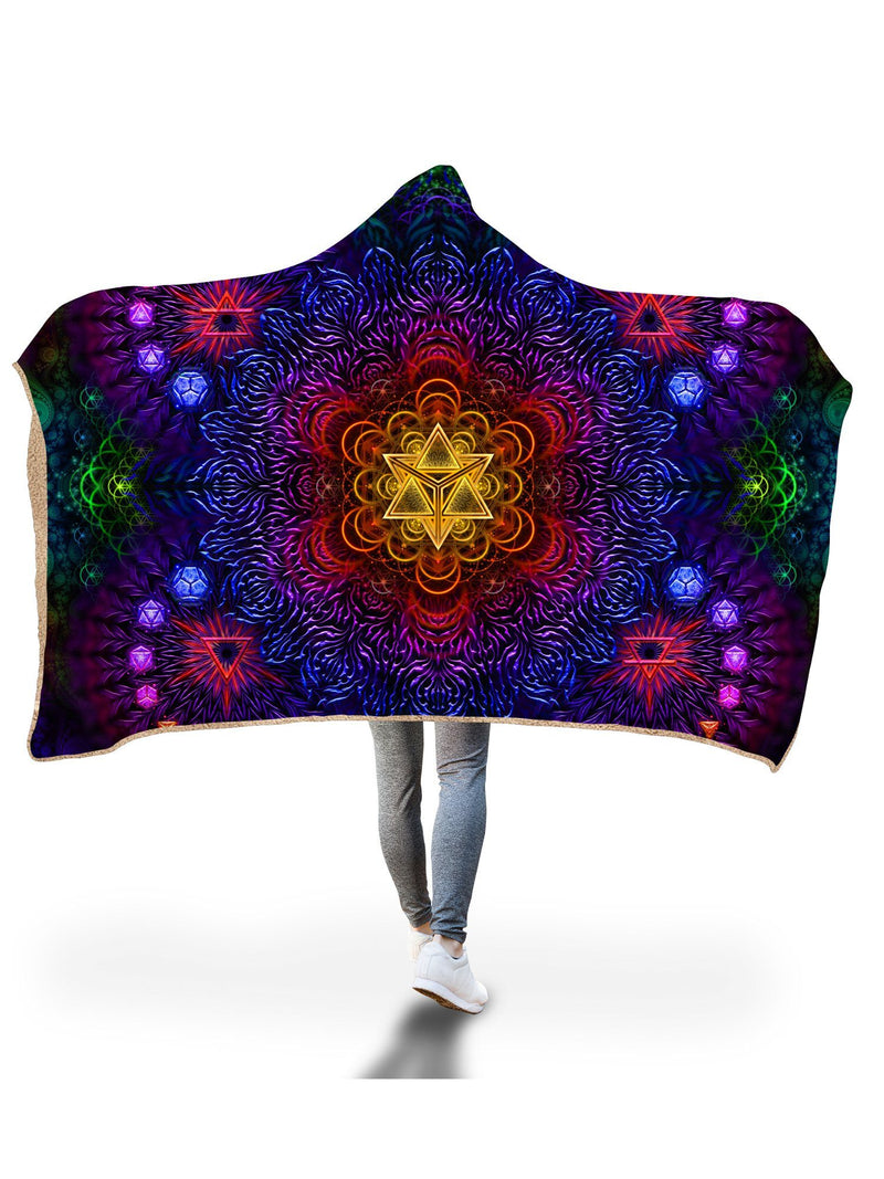 Psychedelic Awakening Hooded Blanket Hooded Blanket Electro Threads