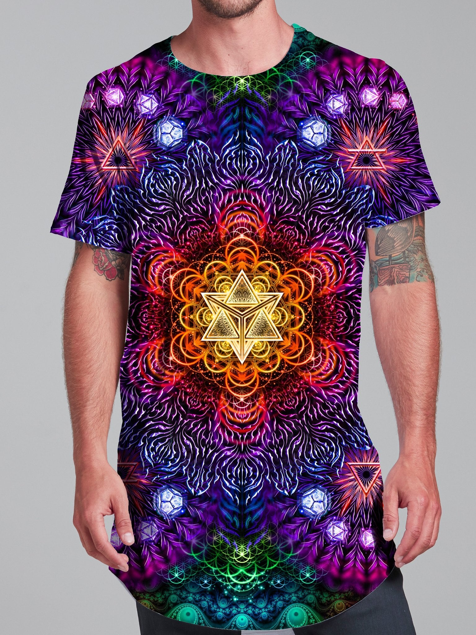 Psychedelic Awakening Tall Tee Mens Tall Tee Electro Threads