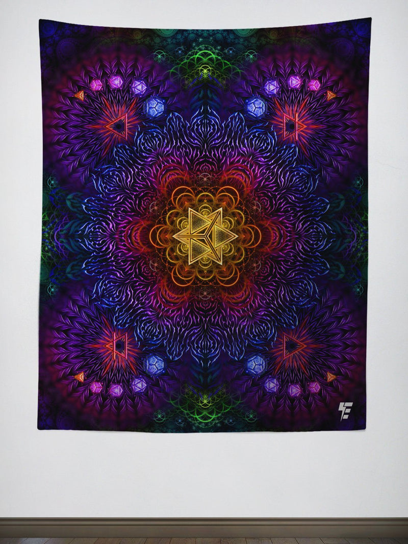 Psychedelic Awakening Tapestry Tapestry Electro Threads