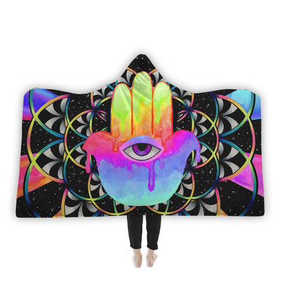 PsyHamsa Hooded Blanket Hooded Blanket Electro Threads