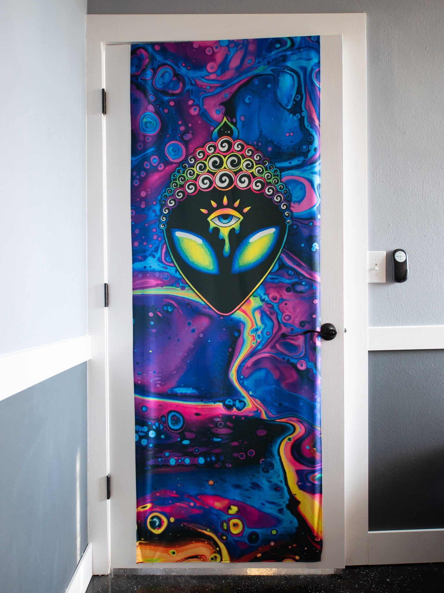PsyHoloBath Door Cover Door Cover Electro Threads