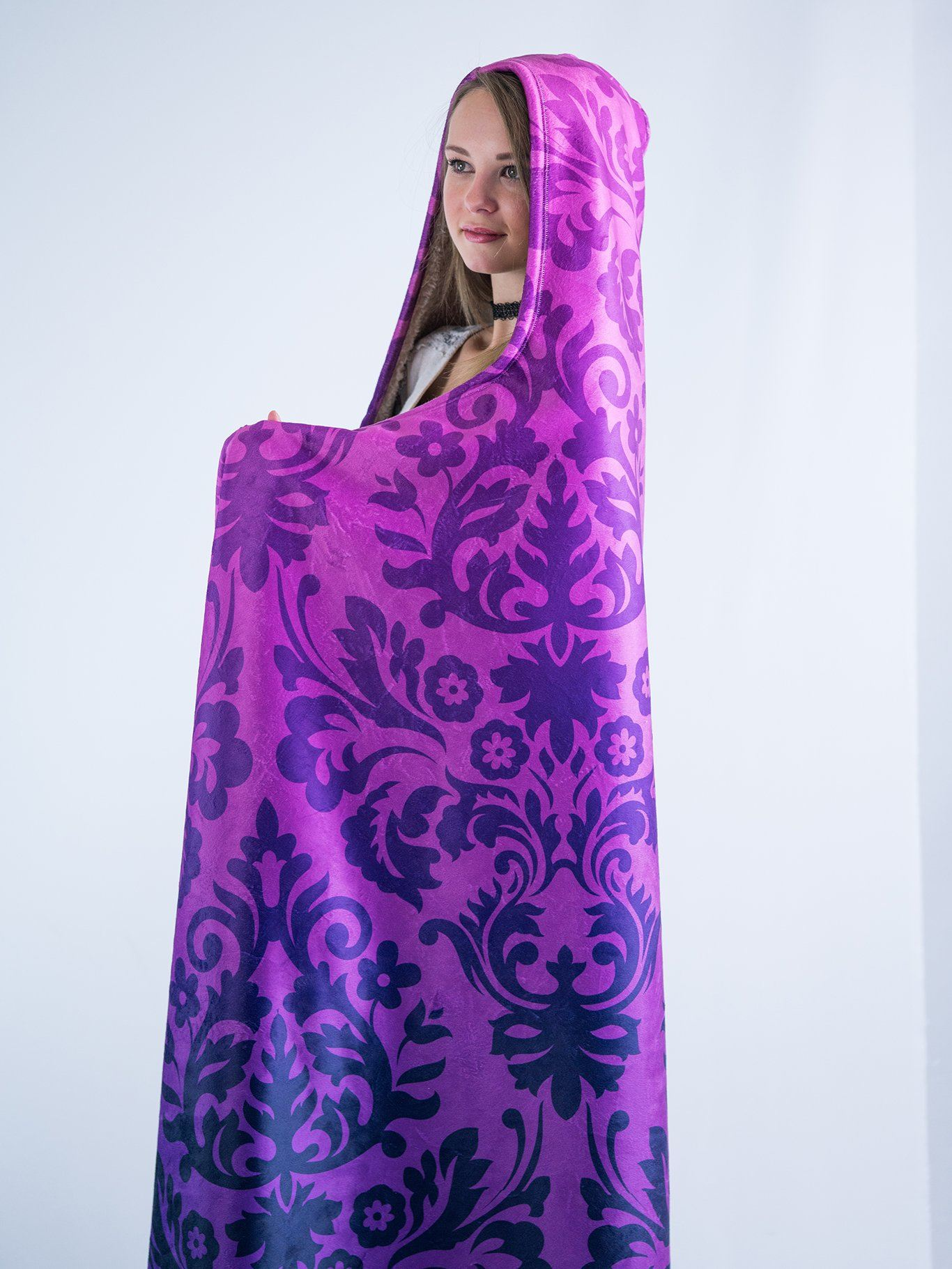 Purple Luxe Hooded Blanket Hooded Blanket Electro Threads