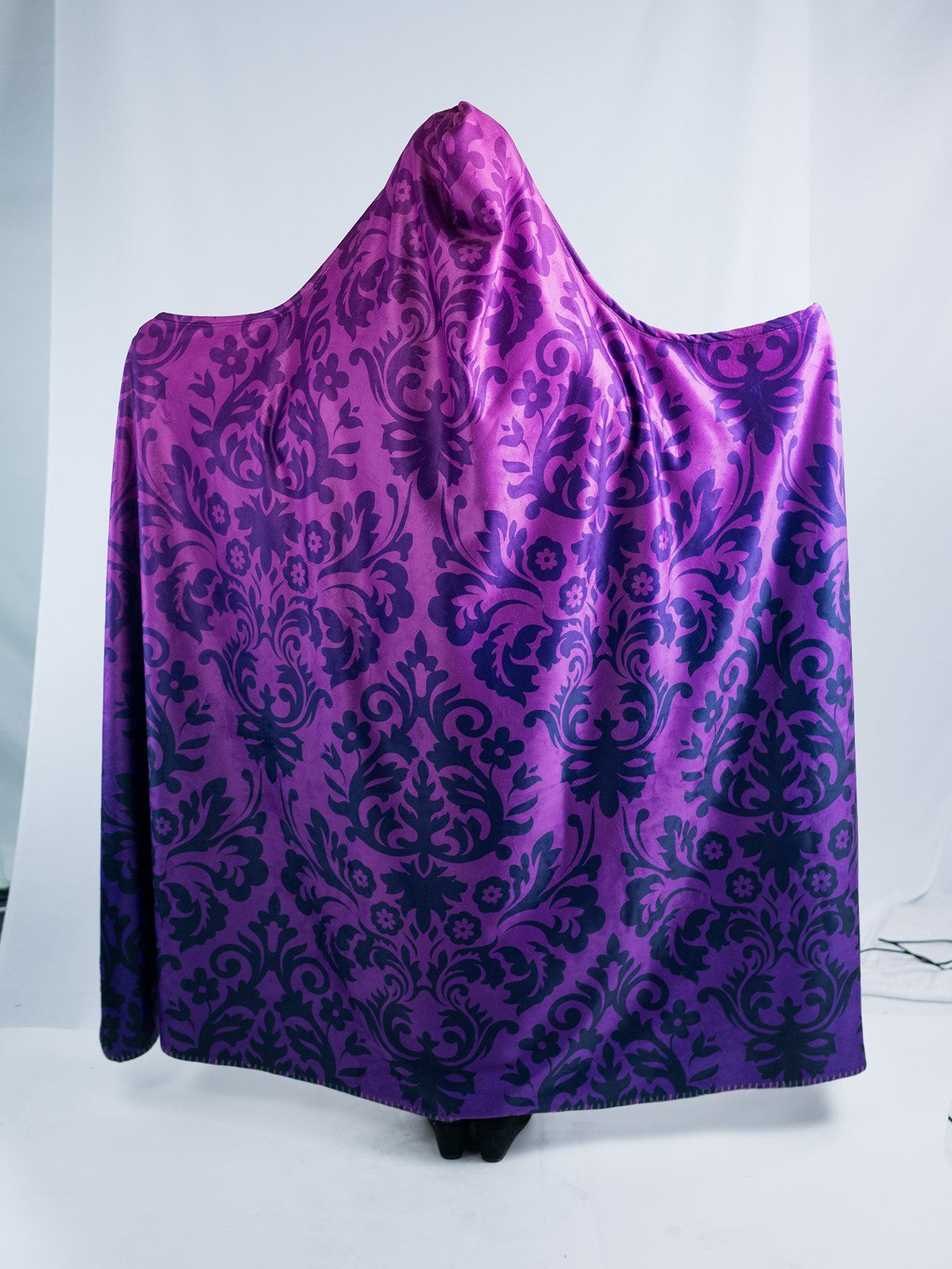 Camp Blanket Purple Luxe Hooded Blanket Camping Hiking Exploring Hooded Blanket Hooded Adventure Throw Gift for Mom
