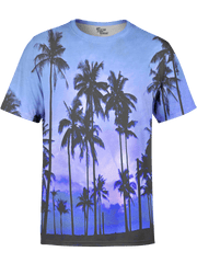 Purple Palms Unisex Crew T-Shirts T6 XS Purple