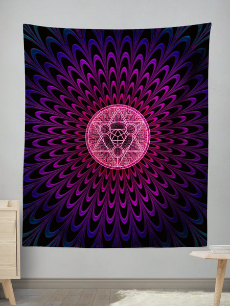 Radiate2 Wall Tapestry Tapestry Electro Threads