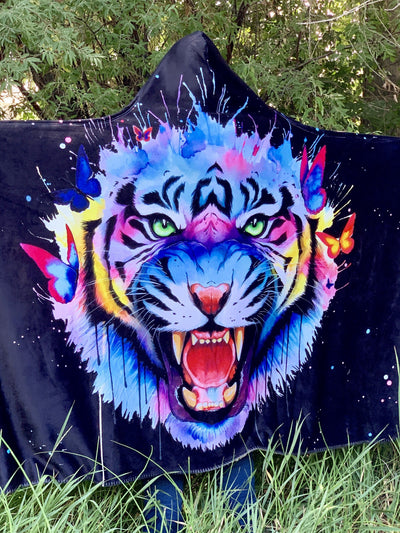 Rajah Hooded Blanket Hooded Blanket Electro Threads