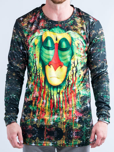 Rasta Rafiki Jersey Long Sleeve Shirt Long Sleeve T6 XS Black