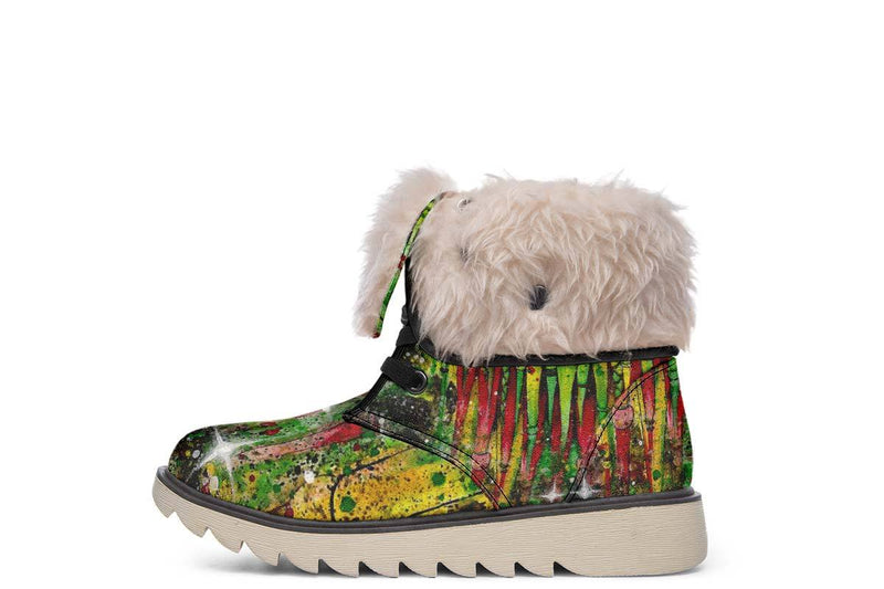 Rasta Rafiki Moon Boots YWF Women's Moon Boots Cream White Sole US 4.5 / EU35