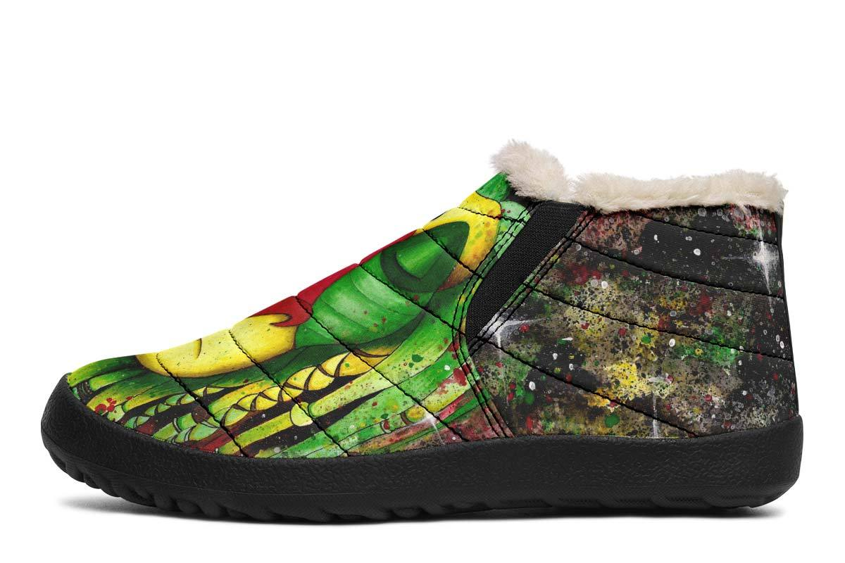 Rasta Rafiki WinterSlippers YWF Women's Winter Slippers Black US 4.5 / EU35