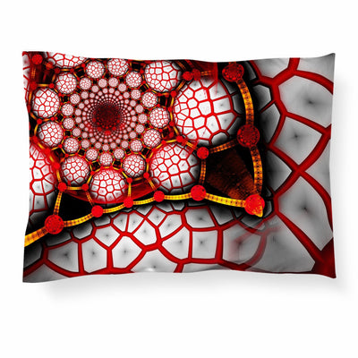 Red Digital Hive Pillowcase Pillowcase Electro Threads