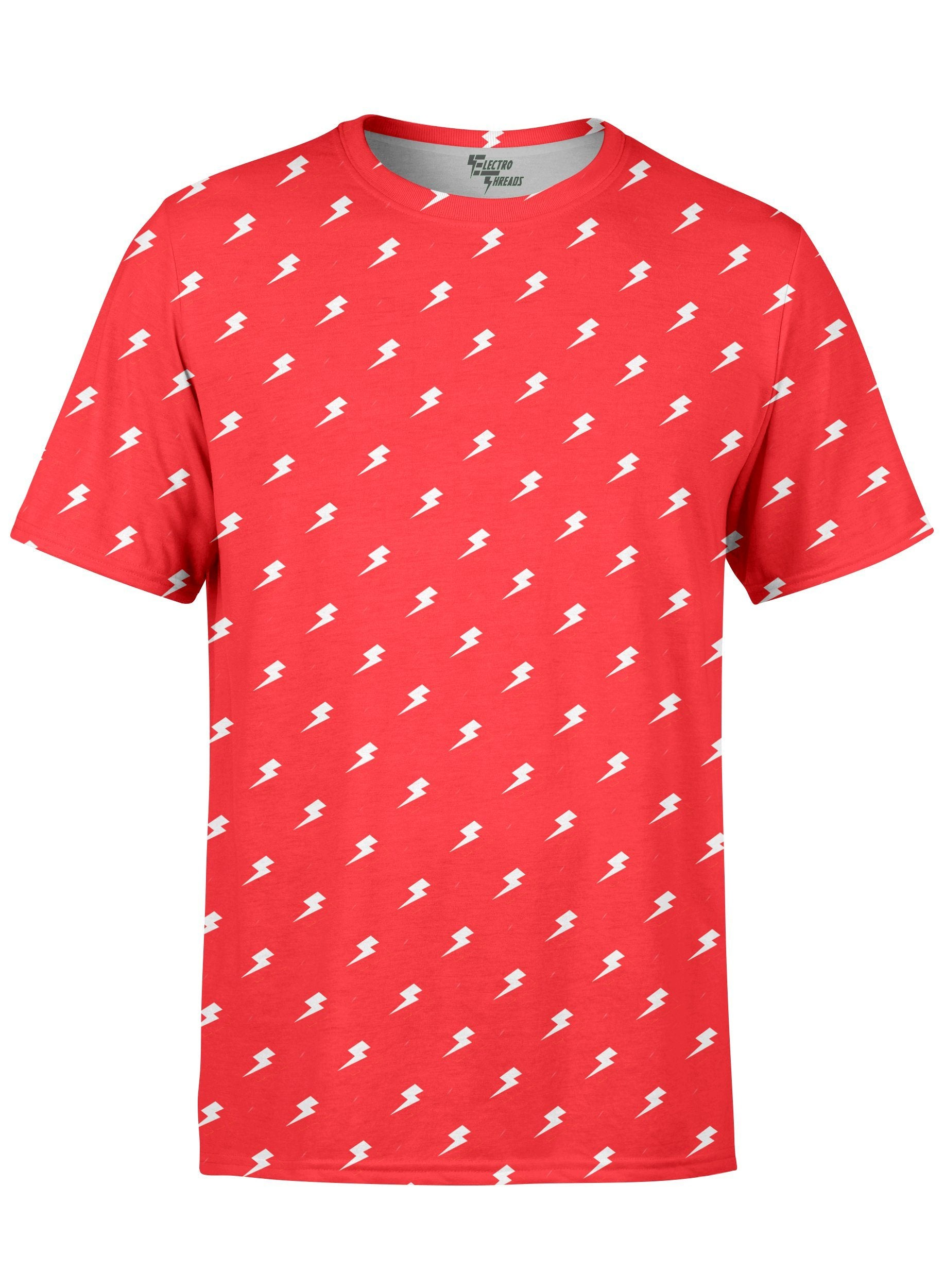 Red Electro Unisex Crew T-Shirts T6