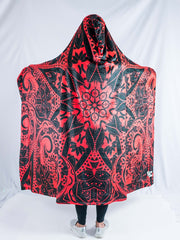Red Mandala Hooded Blanket Hooded Blanket Electro Threads