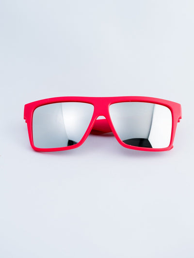 Red – Polarized Chrome Lensed Sunglasses Glasses Electro Threads