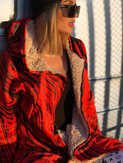 Red Retro Electro Dream Cloak Dream Cloak Electro Threads