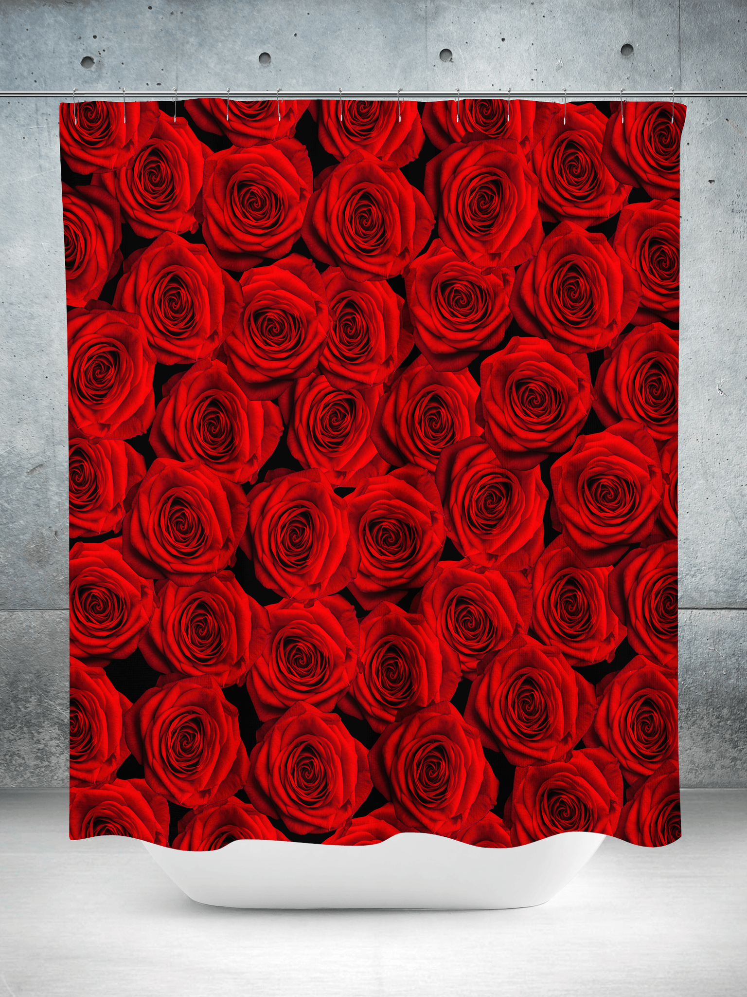 Red Roses Shower Curtain Curtains Electro Threads