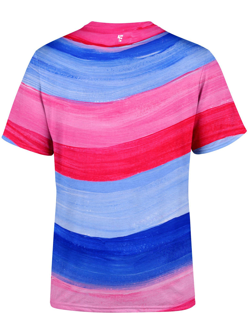 Red, White & Blue Unisex Crew T-Shirts Electro Threads