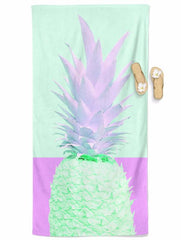 Retro Fineapple Beach Throw Towel Electro Threads