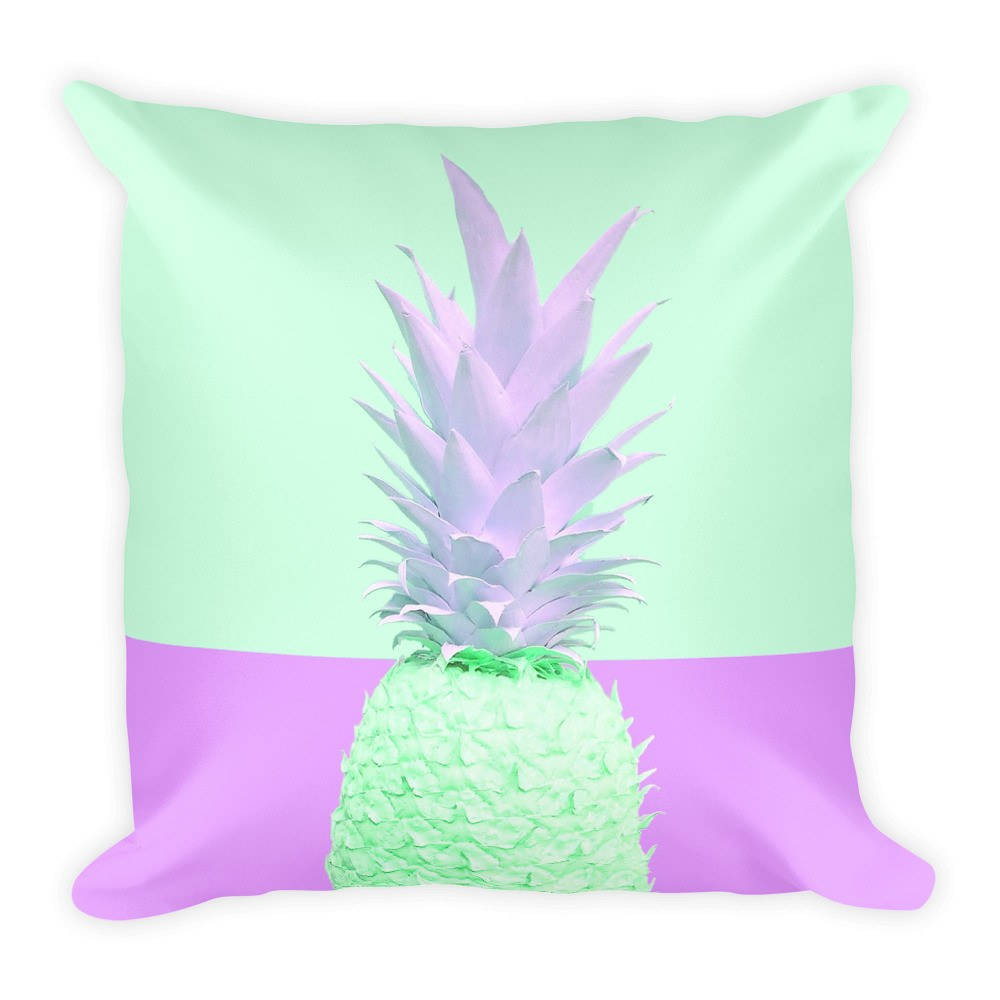 Retro Fineapple Square Throw Pillow Throw Pillow Printful Default Title