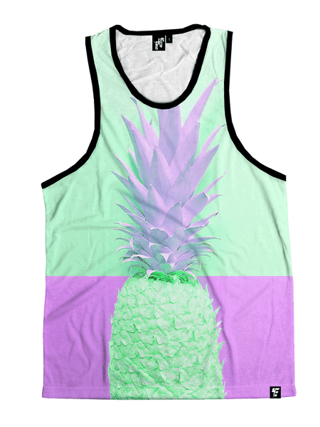 Retro FineApple Unisex Tank Top Tank Tops T6 X-Small Pastel