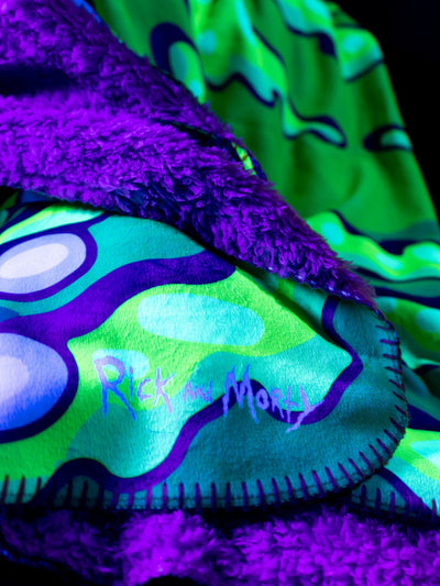 Rick and Morty | Neon Portal Blanket Blanket Electro Threads