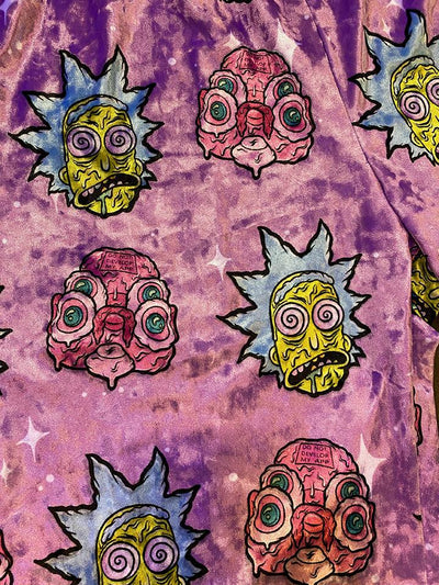 Rick & Morty | Rick & Glootie Shorts (Purple) Mens Shorts Electro Threads