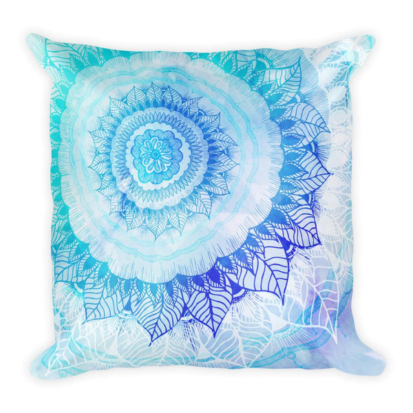 Rose Bud Mandala Square Pillow Throw Pillow Printful Default Title