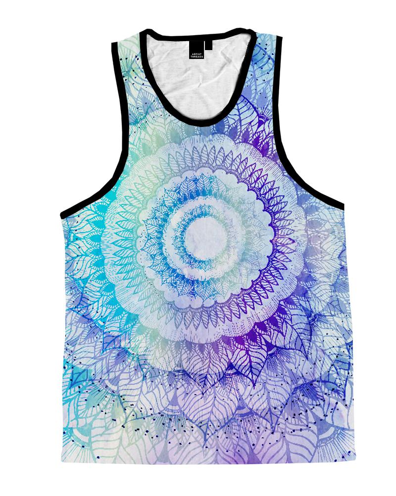 Rose Magic Mandala Unisex Tank Top Tank Tops T6