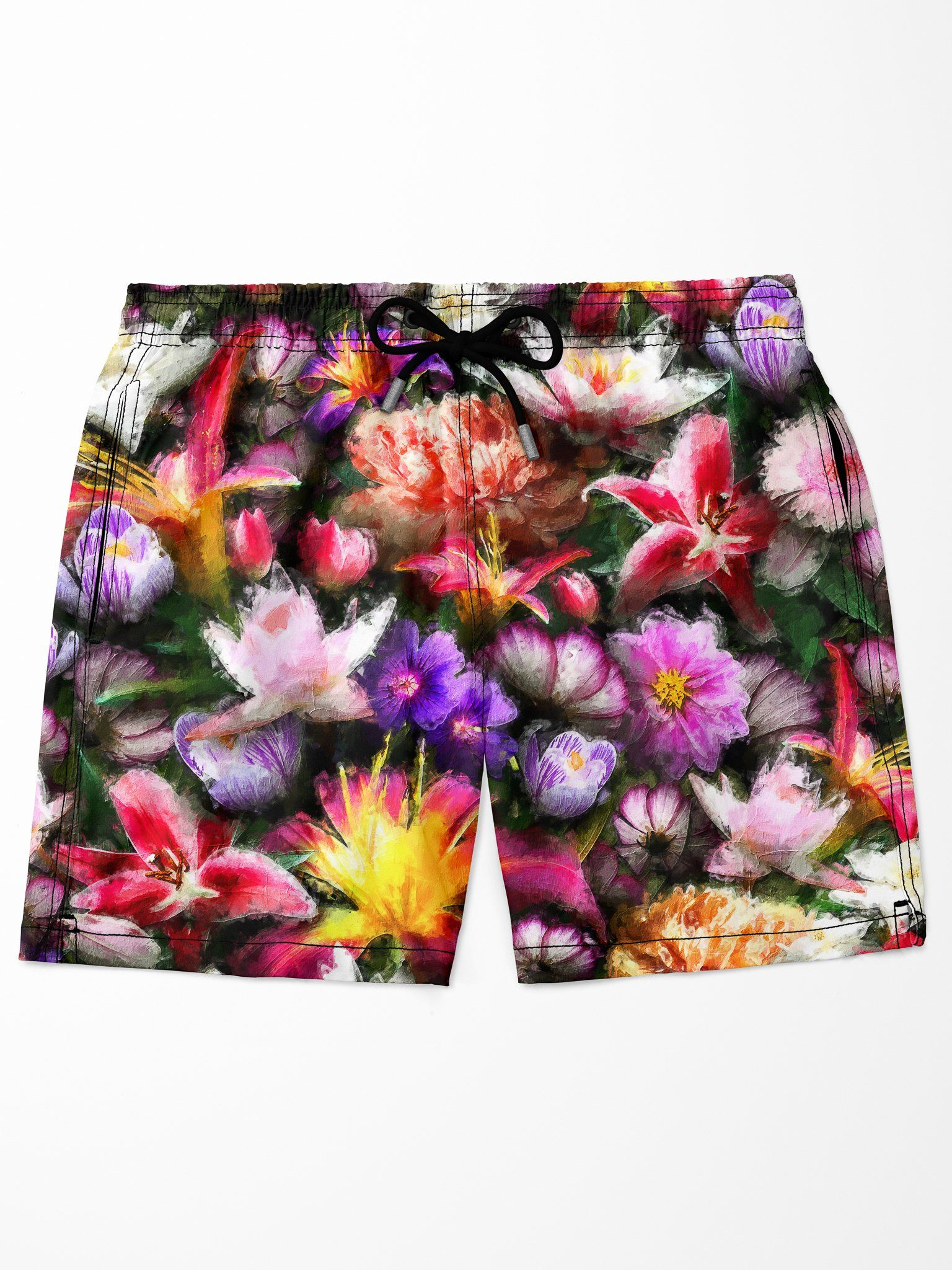 Sacred Bloom Swim Trunks Mens Swim Trunks Electro Threads