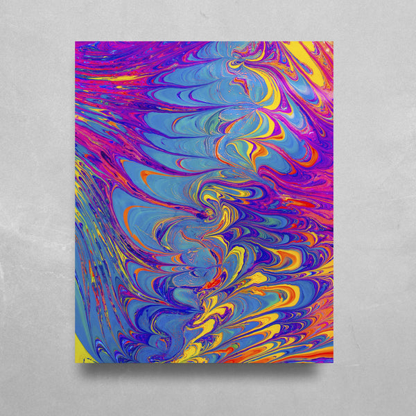 Sapphire Sea HD Metal Panel Print Ready to Hang HD Metal Print Electro Threads