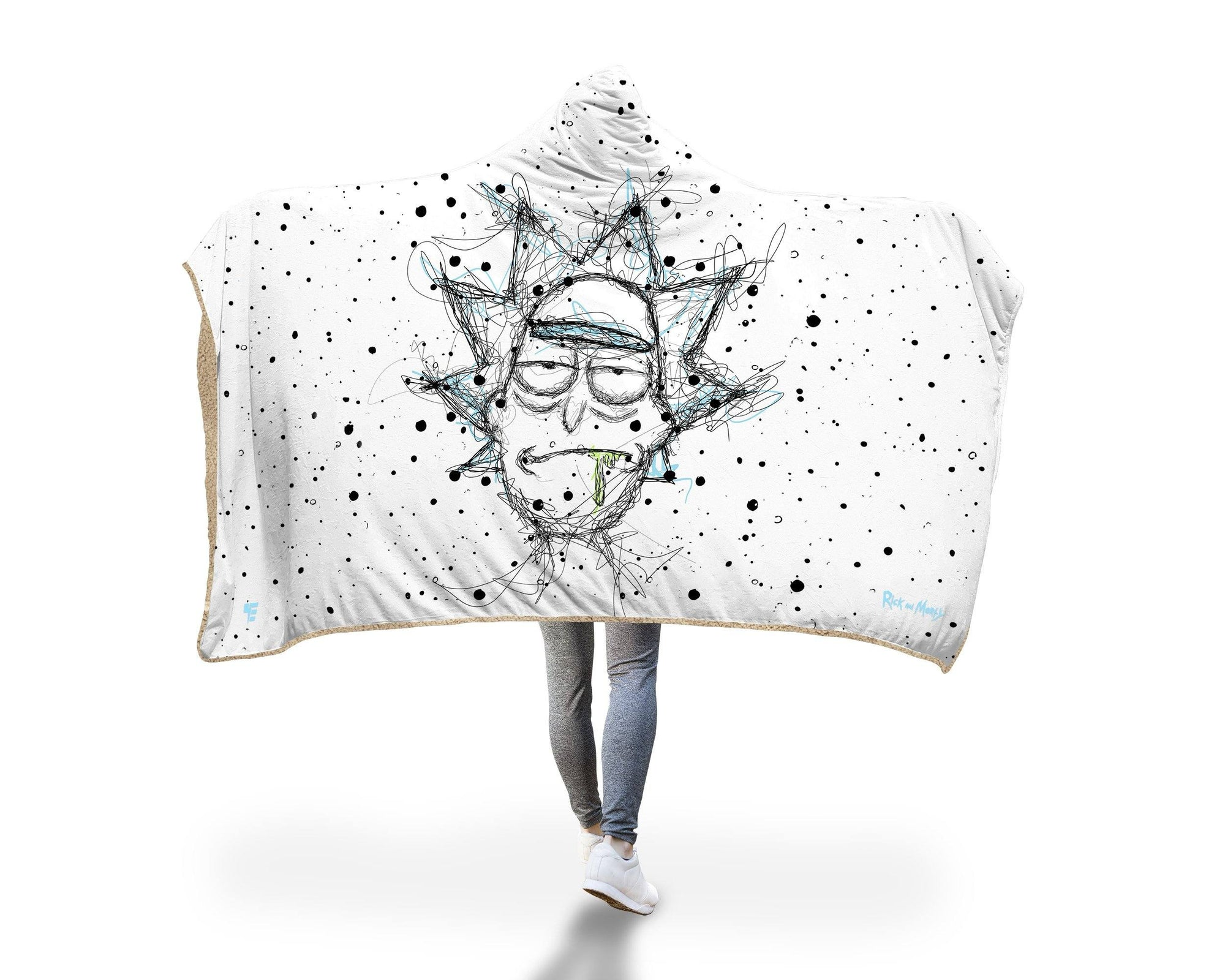 Scribble Rick Hooded Blanket Hooded Blanket Electro Threads