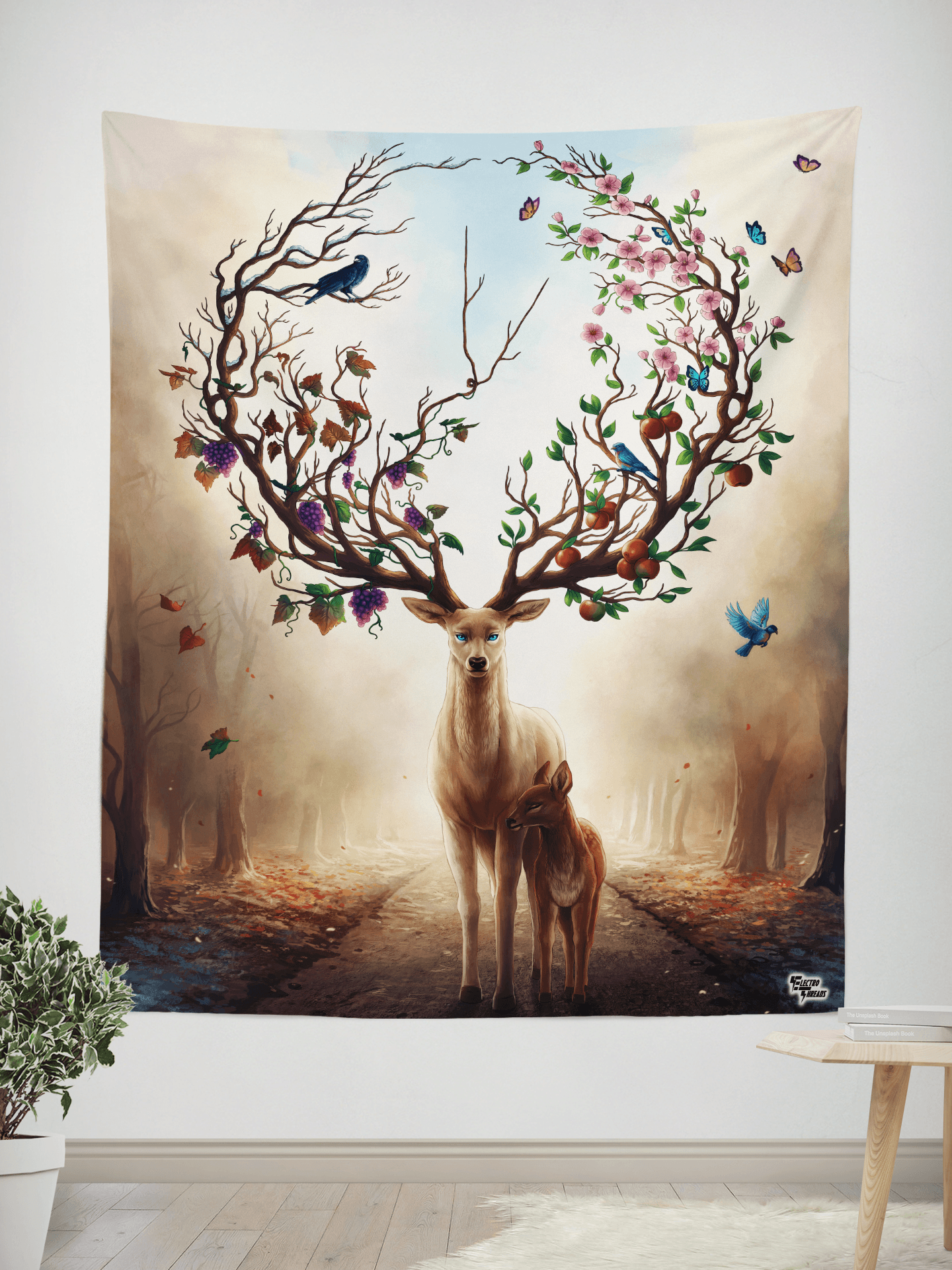 "Seasons Wall Tapestry Tapestry Electro Threads SMALL: 32"" x 42"""