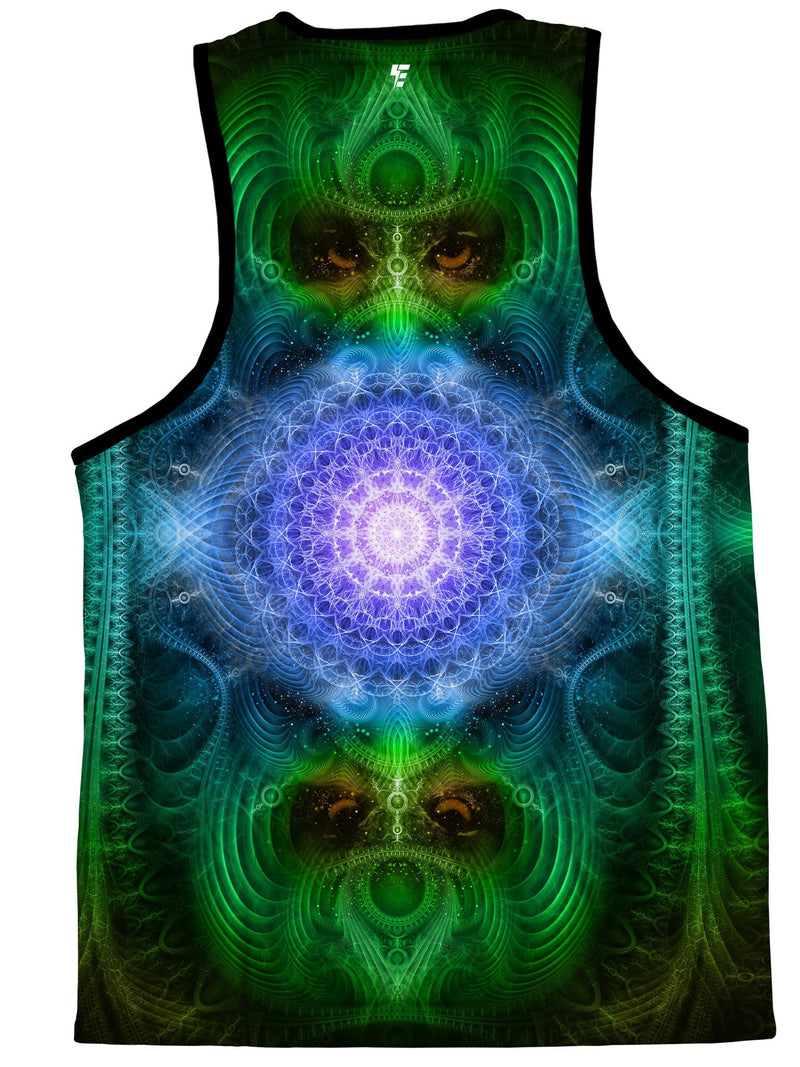 Shamanic Wisdom (Green) Tank Top Tank Tops Electro Threads
