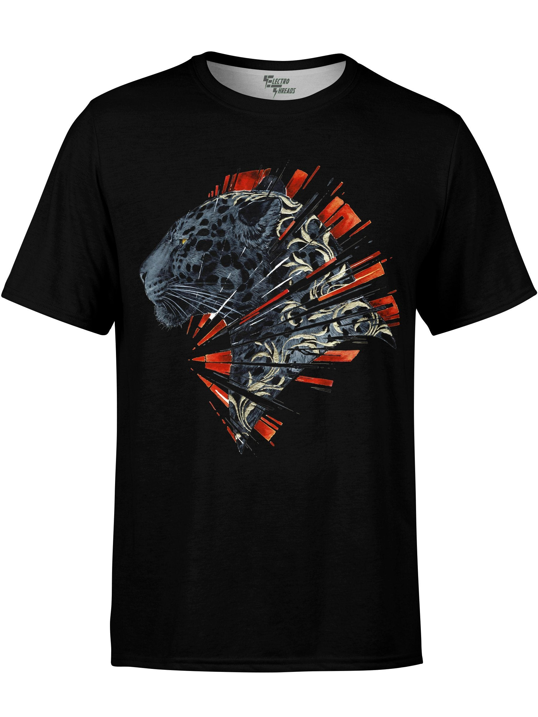 Shattered Panther Unisex Crew T-Shirts Electro Threads