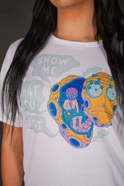 Show Me What You Got Unisex Crew T-Shirts Electro Threads