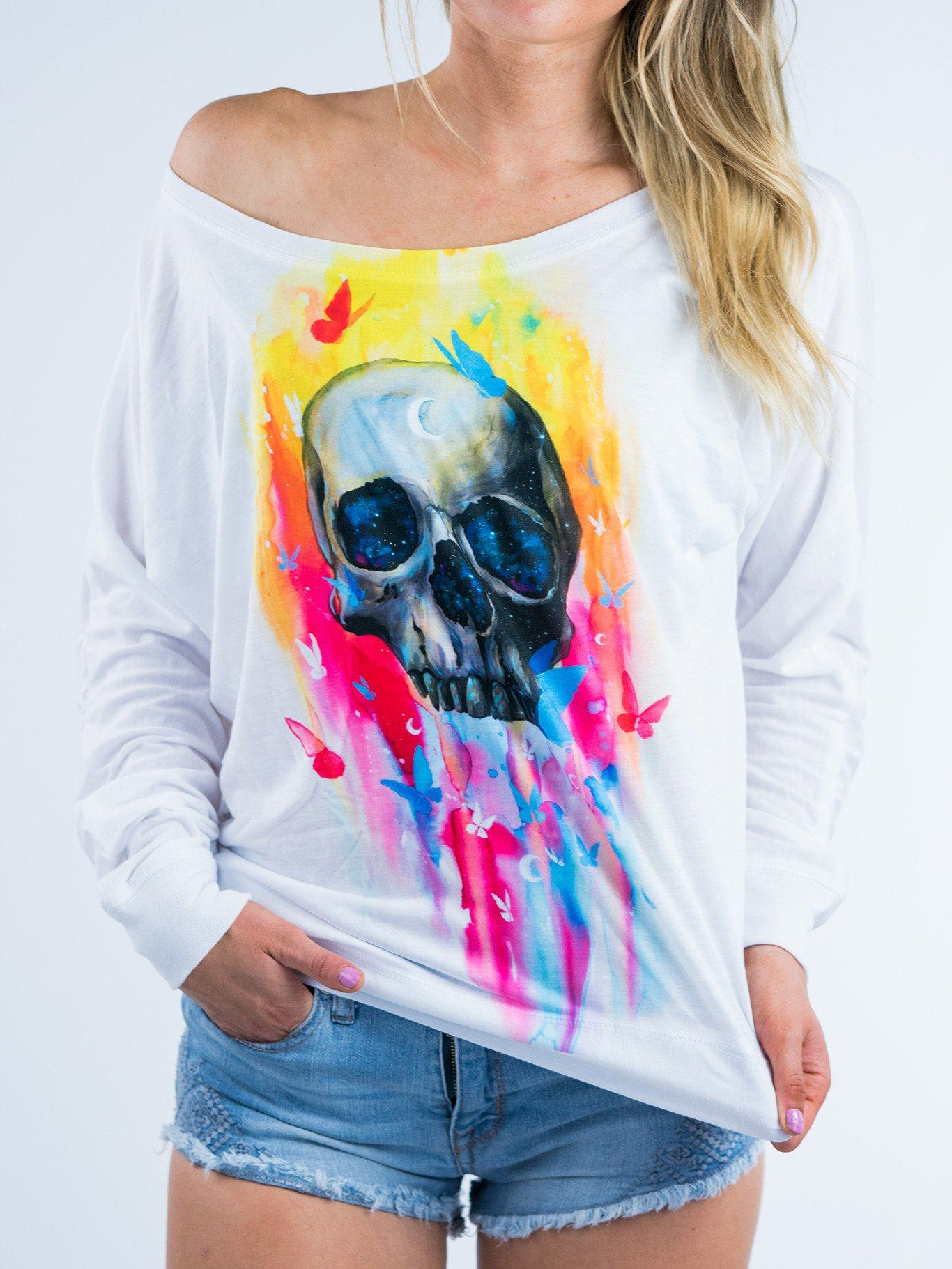 Skull of Life Flowy Off Shoulder Off Shoulder Electro Threads