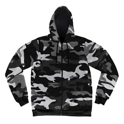 Snow Camo Crushed Velvet Hoodie Pullover Hoodies Electro Threads